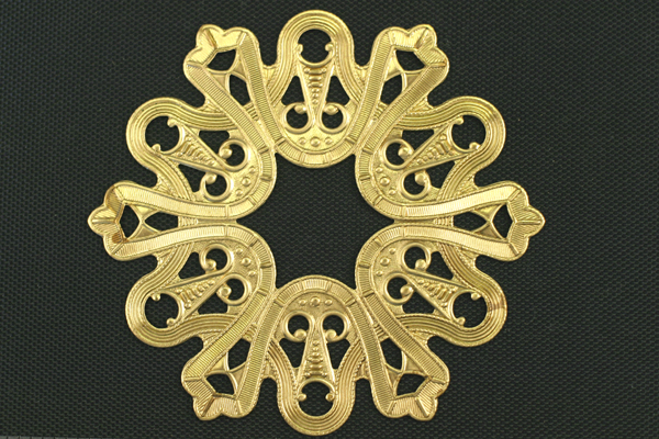 1pc VINTAGE STYLE RAW BRASS VICTORIAN ORNAMENTAL CONNECTOR FINDING