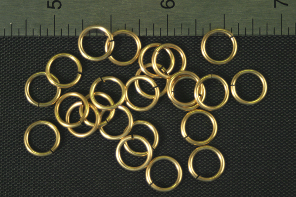 24pc RAW BRASS 7.73mm SIZE JUMP RINGS JR4-40-24