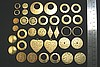 36pc VINTAGE STYLE SOLID RAW BRASS FINDINGS HAMMERED SAMPLER LOT