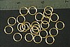 48pc RAW BRASS 9.14mm SIZE JUMP RINGS JR6-40-48